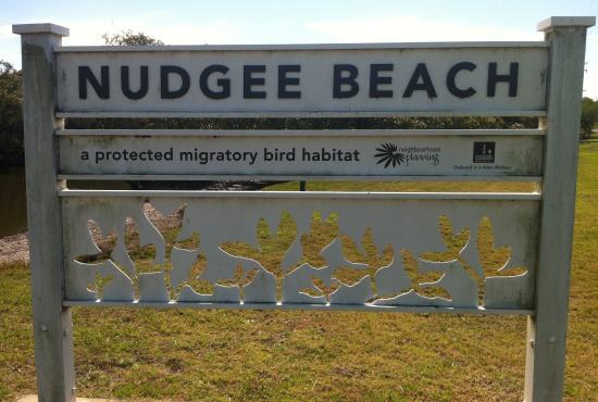 Nudgee Beach Sign